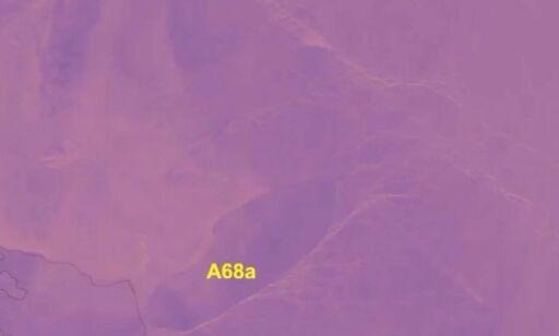 Satellittbildene av det gigantiske isfjellet viser dramatisk utvikling - på full kollisjonskurs