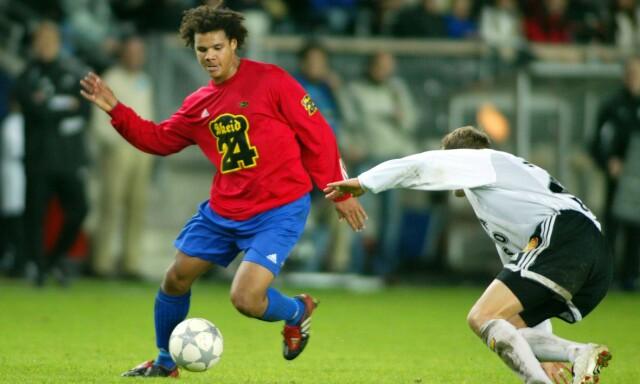 DEN GANG DA: Daniel Braaten i kamp for Skeid mot Rosenborg i NM-semifinale i 2003. Året etter ble han solgt fra nettopp Skeid til Rosenborg. Foto: Gorm Kallestad / SCANPIX