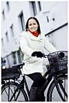 SMART: Det krevde litt disiplin, men Mie fikk mye igjen for blant annet å bruke sykkel i stedet for bil. Foto: All Over Press