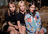 MIU MIU-MODELLER: Suki Waterhouse, Georgia May Jagger og Kaia Gerber gikk alle visning for italienske Miu Miu. FOTO: Scanpix